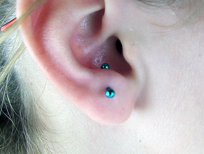 Anti tragus piercing- best ear piercing type