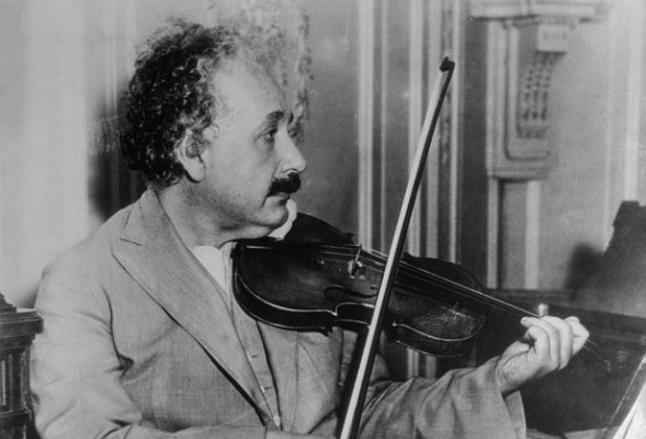 Albert Einstein Playing Violin