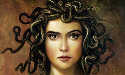 medusa- mythical creatures from ancient mythology