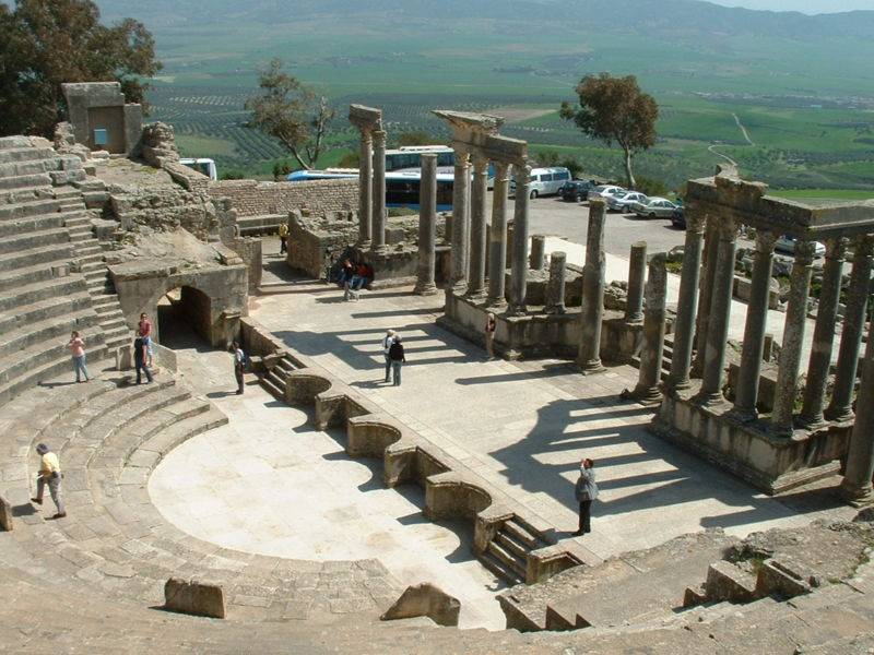 The Dougga Roman Theater, Tunisia