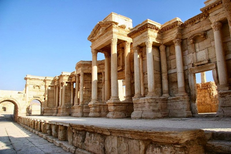 The Roman theater at Palmyra, Syrian Desert