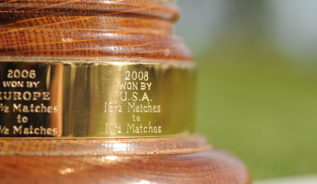 Close view of Ryders trophy